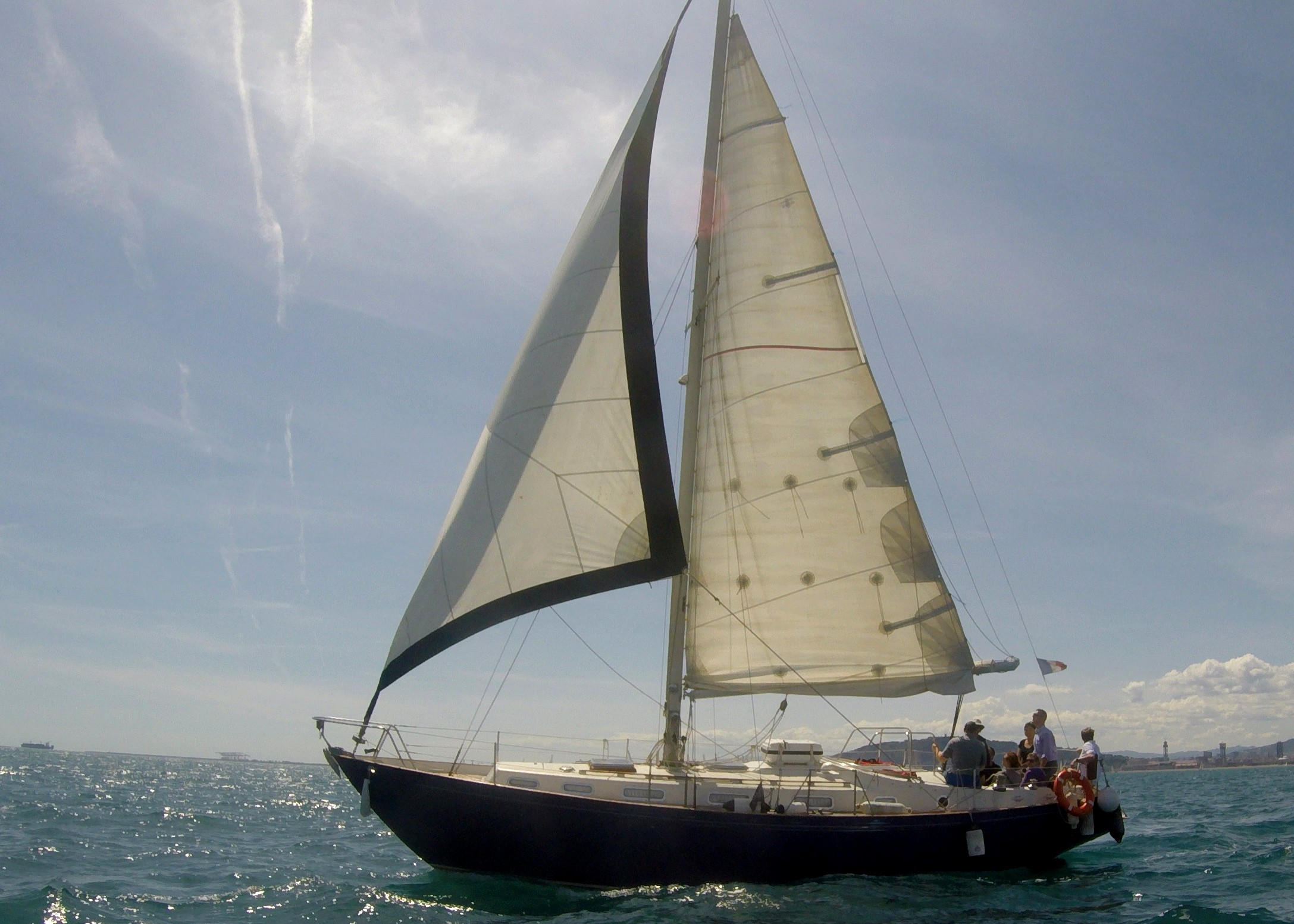 38 ft Manhe Classic Sailboat